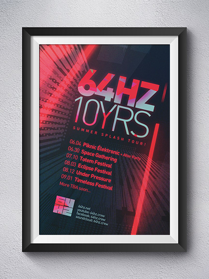 64HZ.10YRS – Campagne promotionnelle